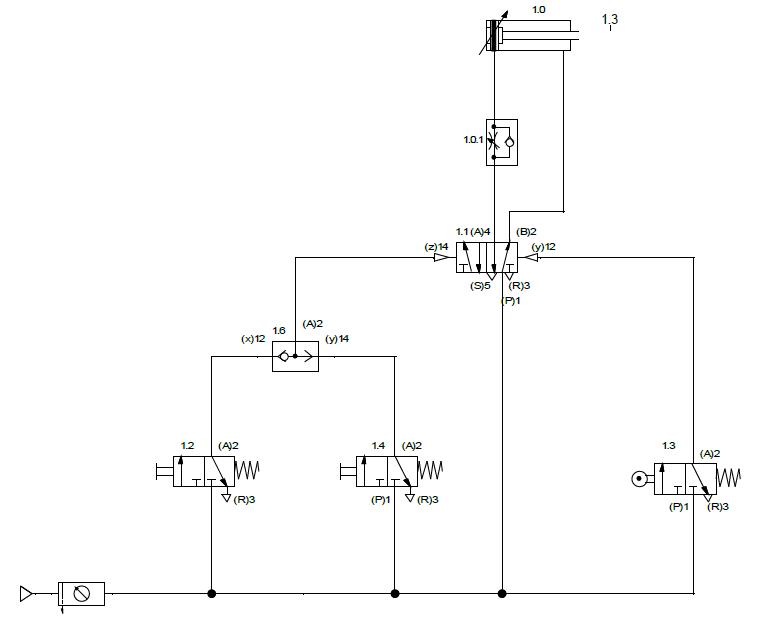 FIG.1 Proiectare instalatie pneumatica