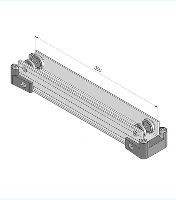 Standard aluminium trolley 300 mm 801.300.000
