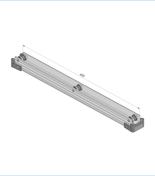 Standard aluminium trolley 600 mm 801.600.000