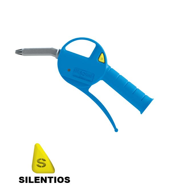 Progressive silenced blow gun with plastic nozzle - P200200000