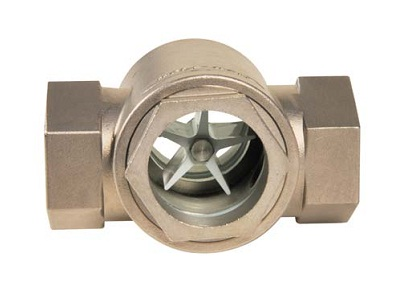 Stainless steel double sight glass with rotor Dn 1/2'- 2'