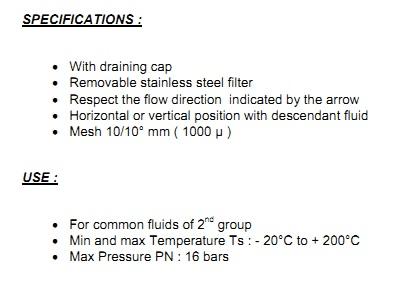 filtru y inox, y strainer threaded, filtru y cu filet, filtru y inox filet interior, filtru y inox g1/4