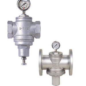 Stainless steel pressure reducing valve with thread of flange