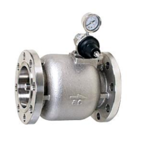 Axial cast iron overflow safety valve with flanges PN16 DN50 DN300