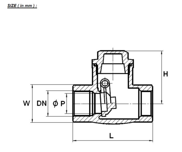 clapeta de blocare tip swing din inox filet interior320a4