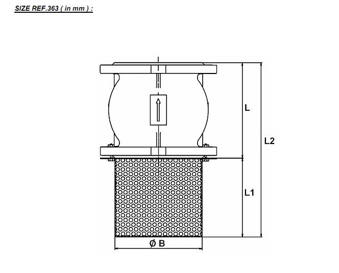 supapa de sens cu arc si sorb cu flanse pn16 pentru apa potabila
