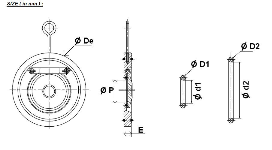 clapeta de blocare tip swing otel carbon garnituri nbr Dn40, check valve, clapeta blocare otel carbon, supapa de sens365a6