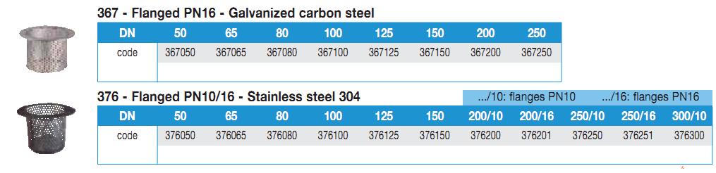 Sorburi cu flansa otel carbon sau inox DN50 DN300