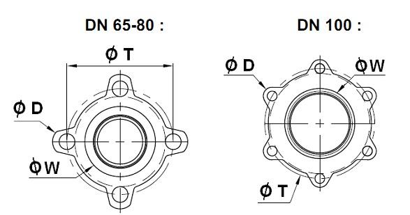 Supapa de sens cu 3 piese otel inox check valve