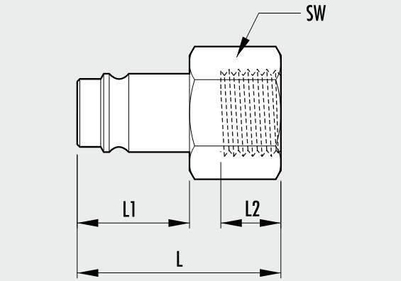 Cupla metalica rapida Tata MAGNUM -filet interior