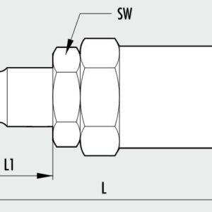 Metalna brza spojnica Tata MAGNUM- sa crevom za oprugu