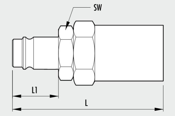 MAGNUM series rapid coupling with fitting for pipe