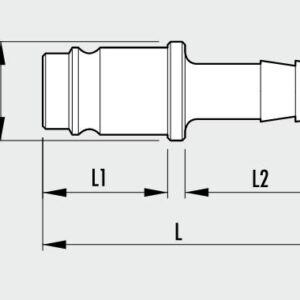 Metalna brza spojnica Tata MAGNUM- sa umetkom za crevo