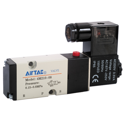 4M (Namur) series solenoid valve with internal pilot and side plate