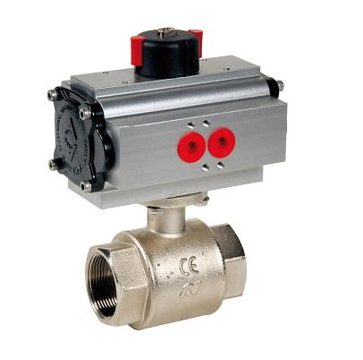 Brass ball valve with pneumatic actuator ADA ASR DN4