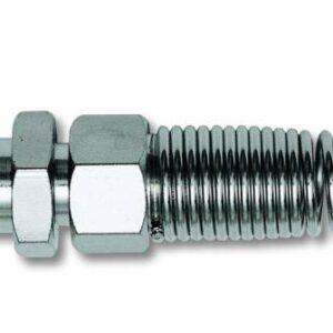 Bayonet coupling for Rilsan tube