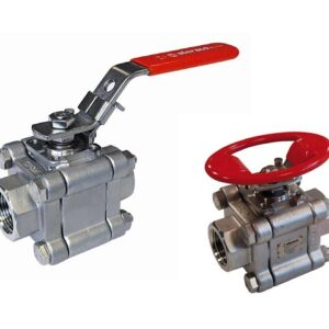 Stainless/carbon steel 3 pieces ball valve PN63 FI- welding unions or welding socket ISO pad fire safe