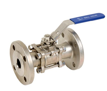 Carbon steel 3 pieces flanged ball valve DIN3202 GN40