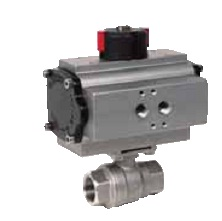 2 pieces stainless steel ball valve with pneumatic actuator