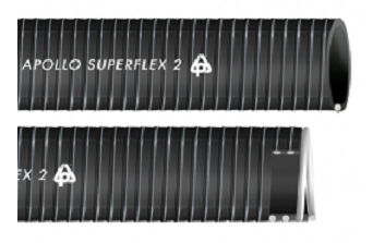 Anti shock PVC/NBR hose with rigid spiral APOLLO SUPERFLEX 2
