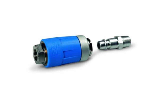 AIRBLOCK series universal safety quick ball cock with pipe connector