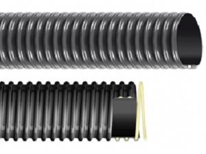 Plasticized PVC hose with anti shock rigid PVC spiral EOLO L