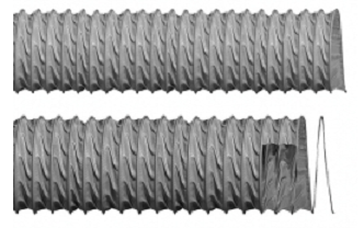 Furtun flexibil din fibre de sticlă acoperit cu PVC ignifug