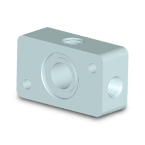 """Connection plate with 2x1/8"""" outlets for 180 series"""