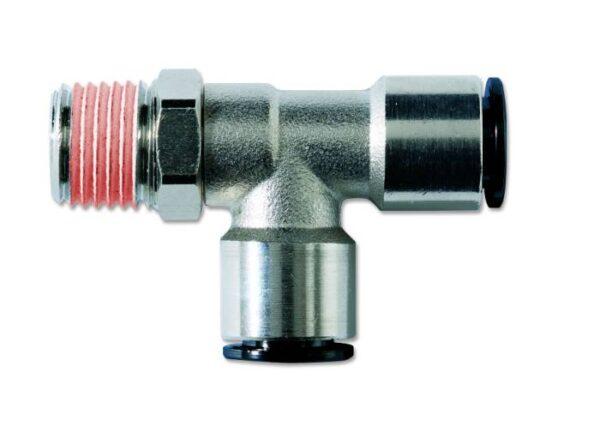 Conector metalic T axial -filet exterior conic