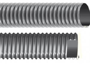 Plasticized PVC hose with rigid PVC spiral