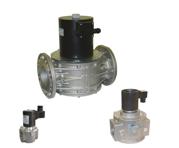 Automatic solenoid valve for gas 360 mbar