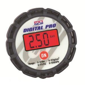 Digital pressure gauge with back connection Ø80