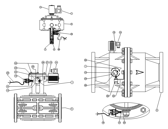 Electroventile gaz cu rearmare manuala 500 mbar si 6bar