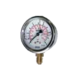 Glycerine filled radial pressure gauges Ø63