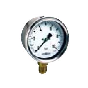 Radial pressure gauge for steam