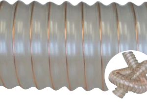 Antistatic polyurethane hose for suction of sawdust GAINES TAPE PUR 400/600