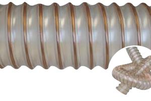 Reinforced polyurethane flexible hose