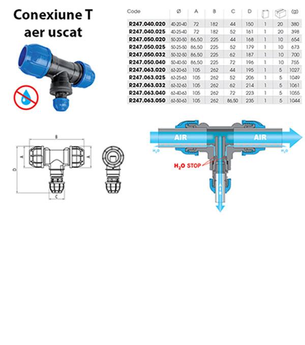 suvi vazduh za aluminijumsku cev za komprimovani vazduh R247