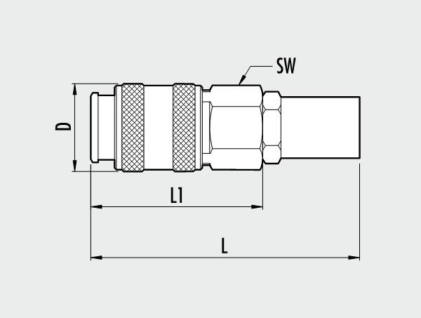 UNI series rapid ball tap with fitting for pipe