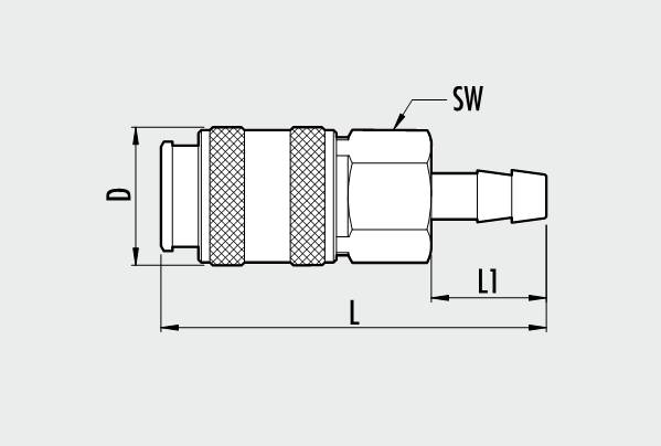 UNI series rapid ball tap with pipe connector