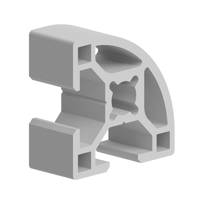 PROFIL ALUMINIU CURBAT TIP BOSCH 30X30 MM CANAL 8 MM 084.107.005