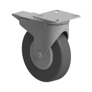Roata 100 mm cu franare si flansa pentru profil aluminiu Bosch