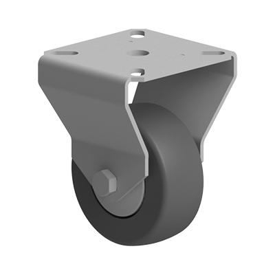 Roata 60 mm fixa fara franare fixare cu flansa pentru profil aluminiu Bosch
