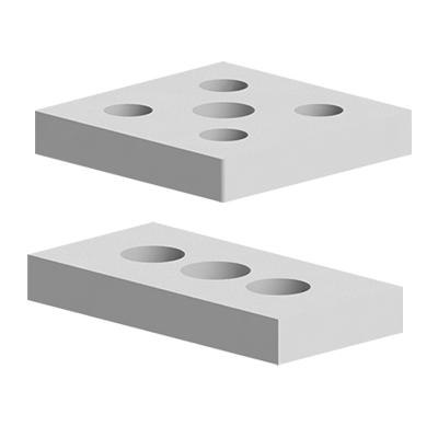 Placi de capat pentru talpi si roti profil aluminiu Bosch