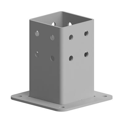 Baza fixare in podea pentru profil aluminiu Bosch 90x90