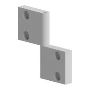 Balama aluminiu 81x79 mm pentru profil aluminiu Bosch 084.502.005