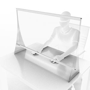 Panou de protectie pentru birou 1600x1000 mm