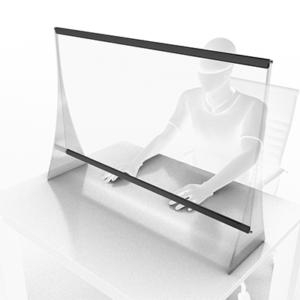 Panou de protectie pentru birou 1200x1000 mm