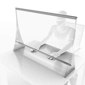 Panou de protectie pentru birou 1000x700 mm