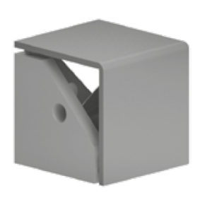 Coltar 3 cai pentru profil 40x40 din zamac si poliamida